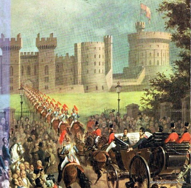 Louis Philippe en visite à Windsor