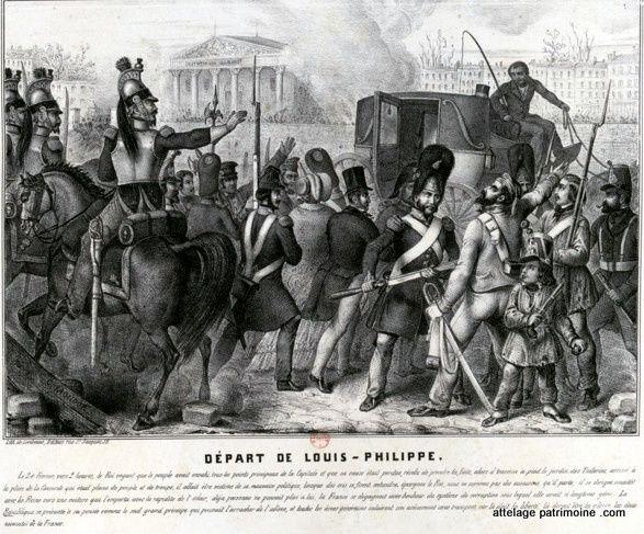 Le destin des voitures de Louis Philippe.