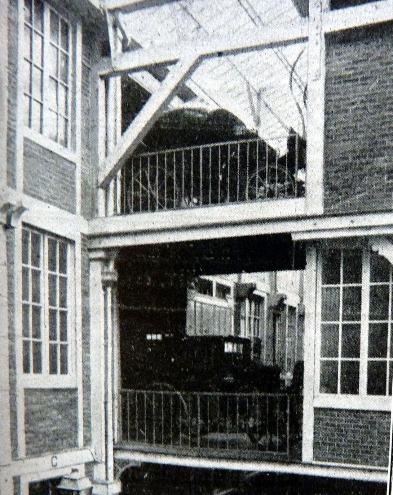 Vue d'ensemble des deux étages côté remise