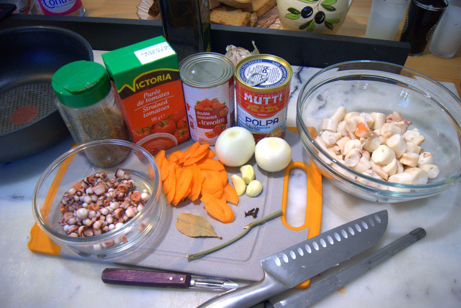 Les raviolis de poulpe.