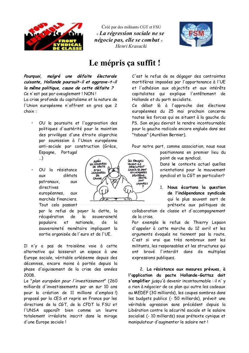 Paris : marche du 12 avril République-Nation 14 H