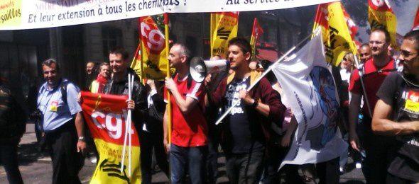 Marche des cheminots du 22 mai : solidarité de la FSM