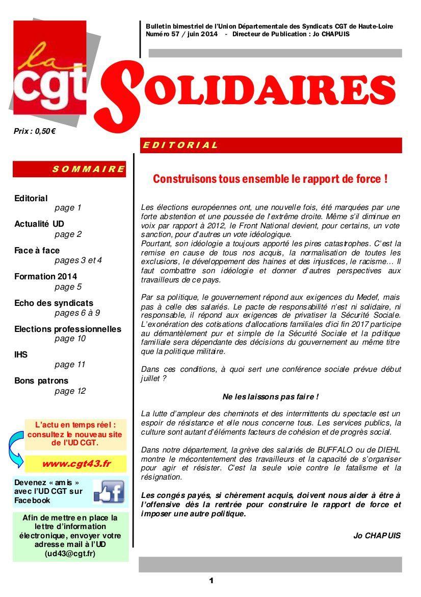 UD CGT de Haute Loire : Ne les laissons pas faire!