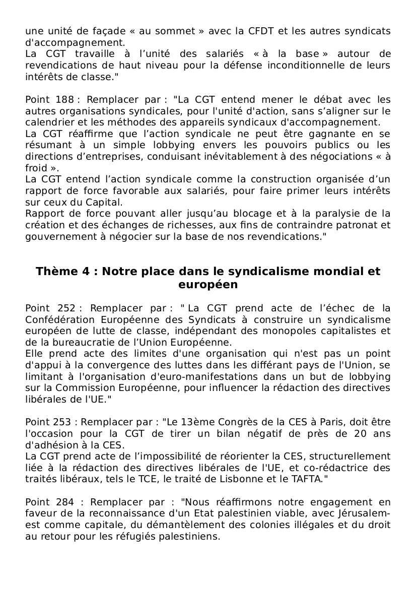 51e congrès CGT : critiques et amendements des cheminots de Versailles