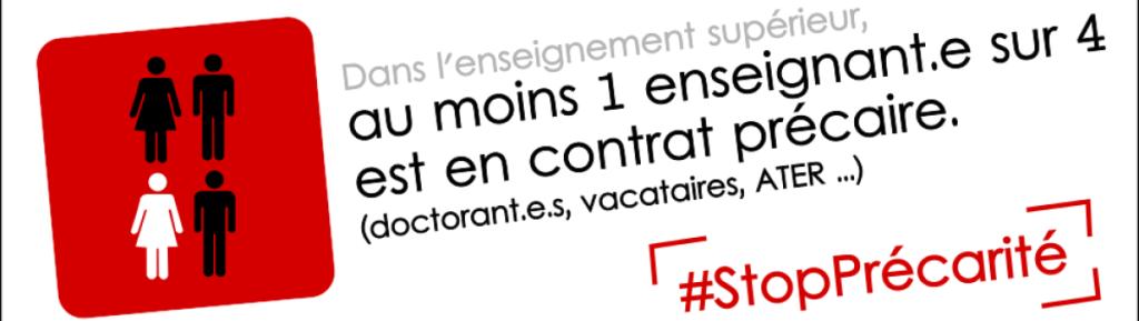 13 avril : journée d'action contre la précarité dans l'enseignement supérieur et la recherche