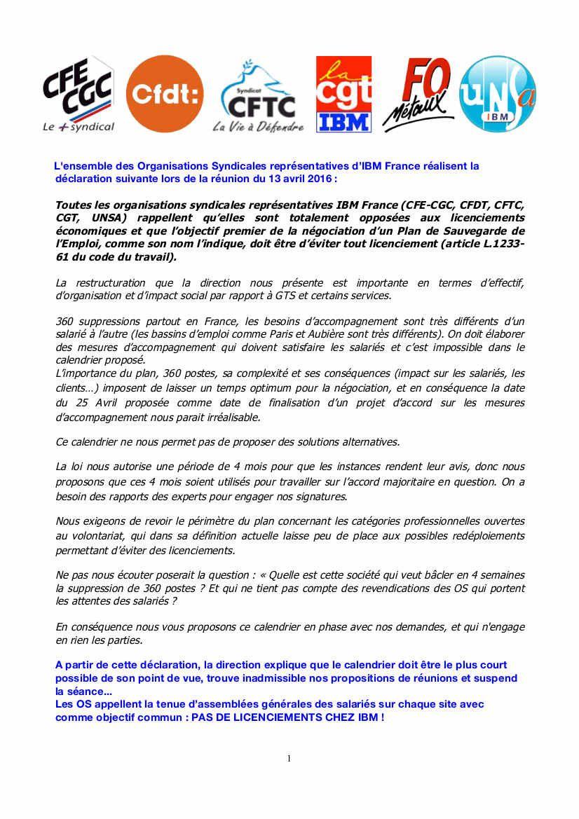 IBM France licencie : Résistance!