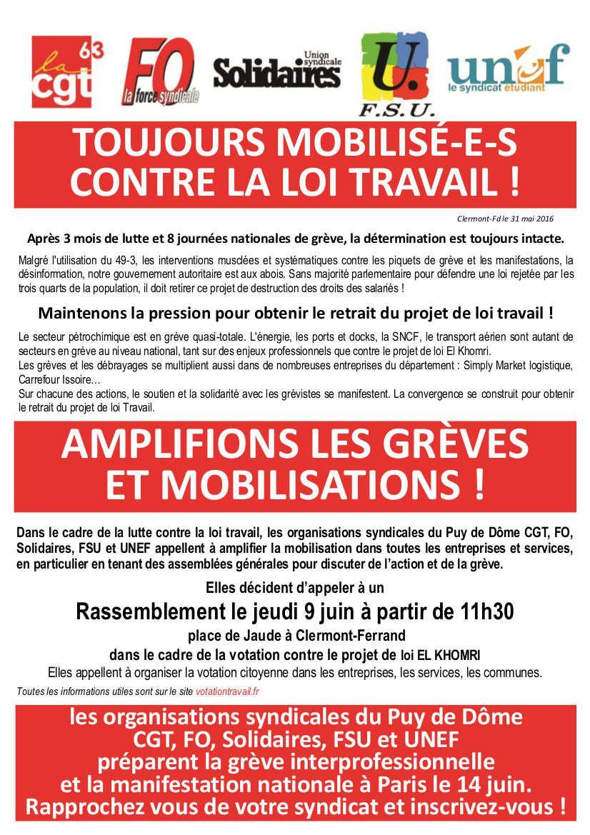 Le Puy-de-Dôme uni dans la lutte
