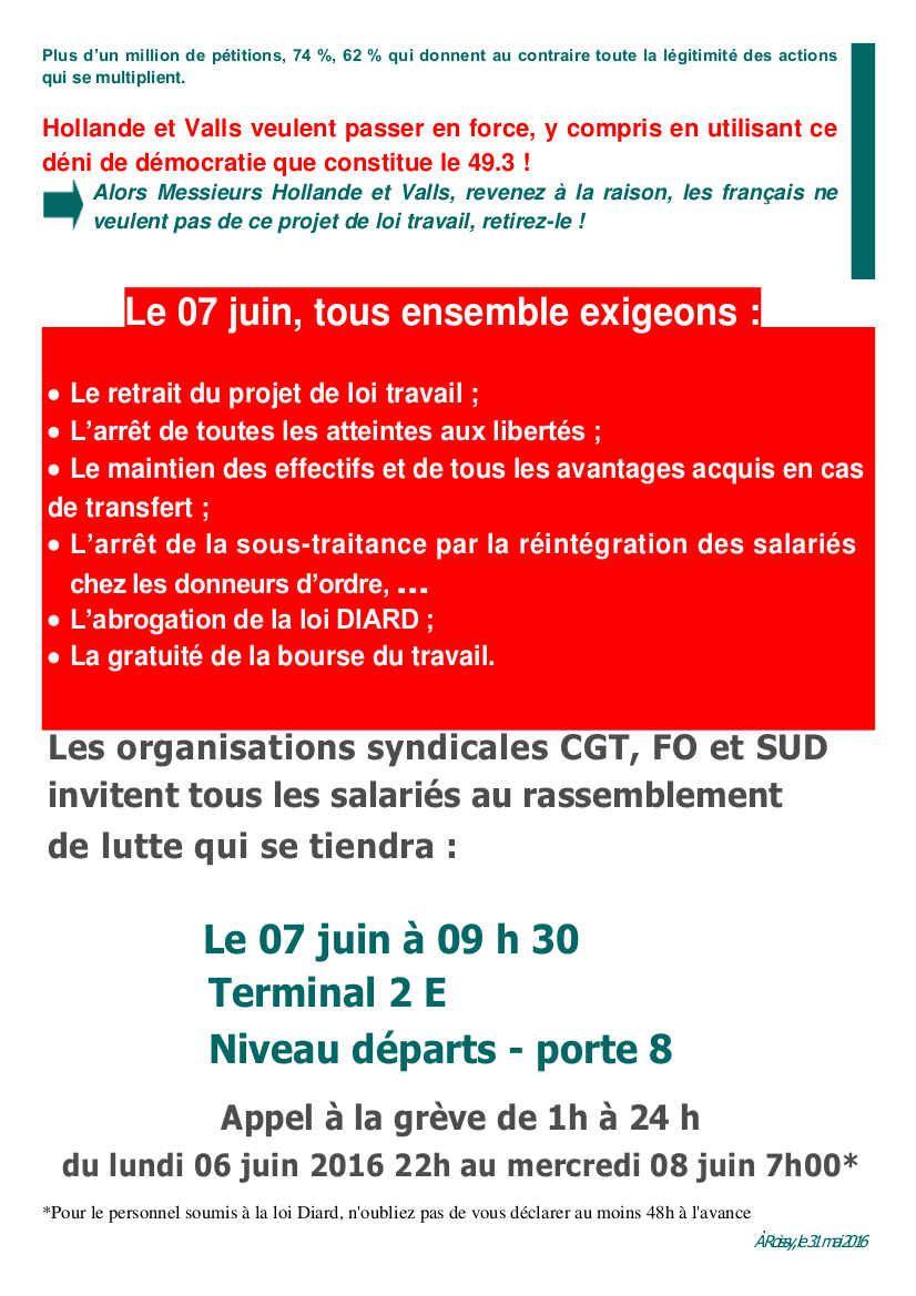 Aéroport de Roissy le 7 juin