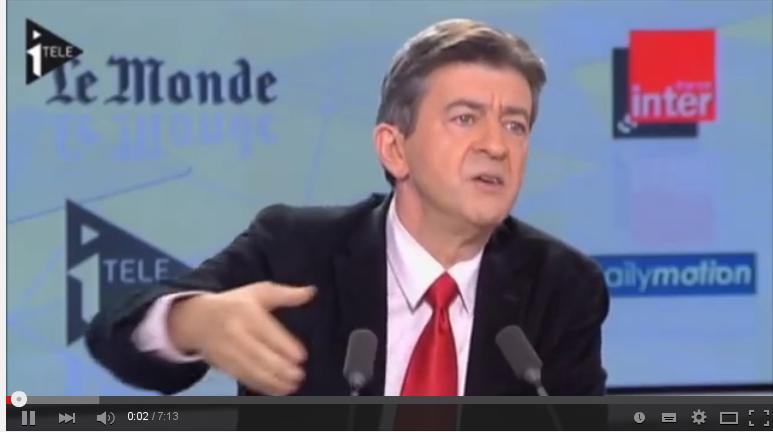 Jean-Luc Mélenchon : il y a des policiers casseurs!