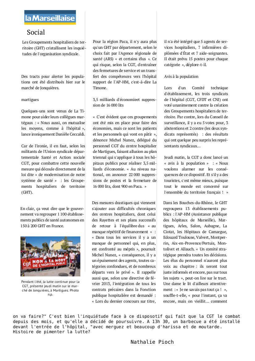 Marseille ... et ailleurs : NON à la mort de l'hôpital public!