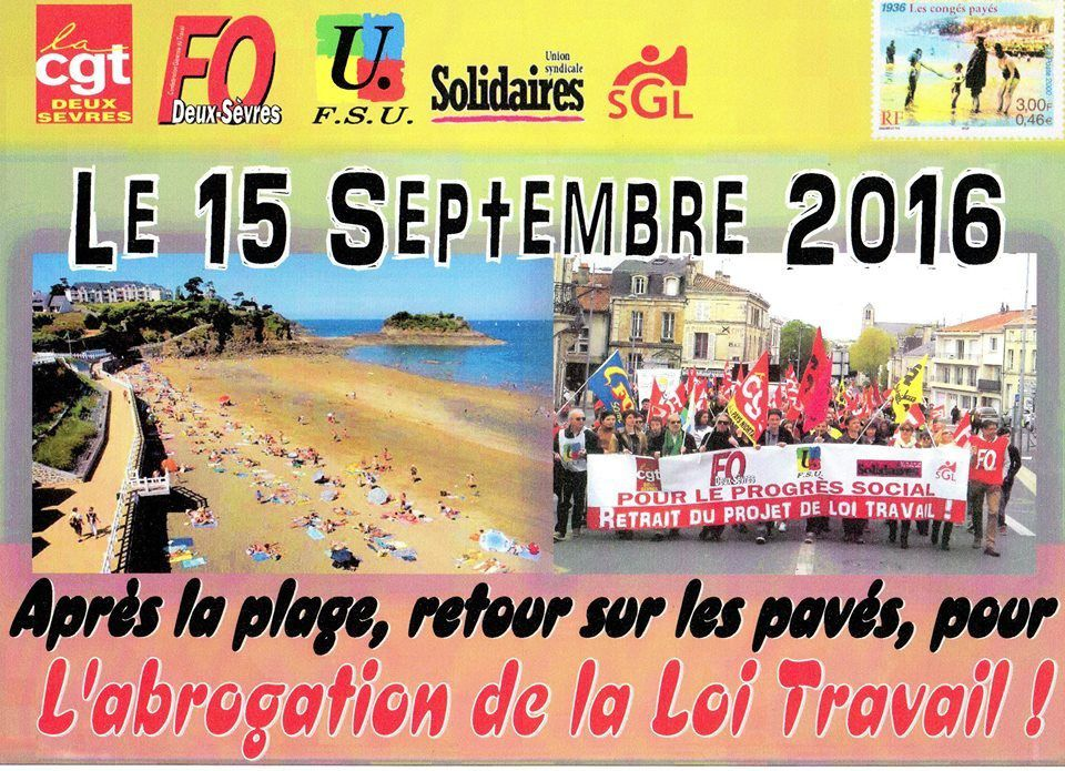 Sous la plage ... la grève!