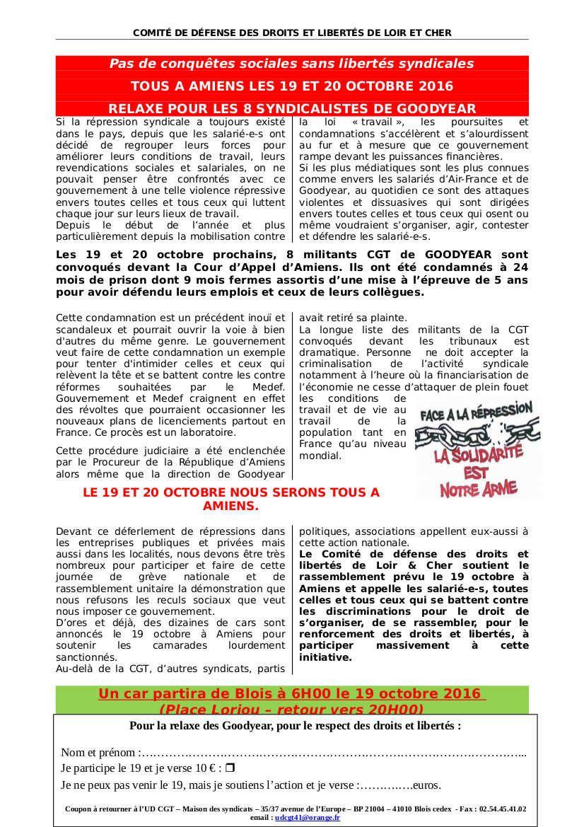 Solidarit goodyear le 19 et le 20 octobre se pr parent for Dans 9 mois nous serons 4