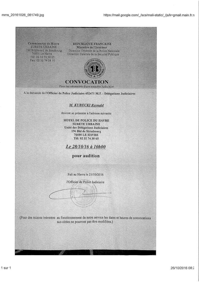 Encore la répression contre l'Union Locale CGT du Havre