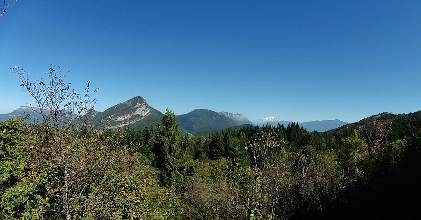 Du Nivolet au Mont Blanc, en passant par le pic de la Sauge.