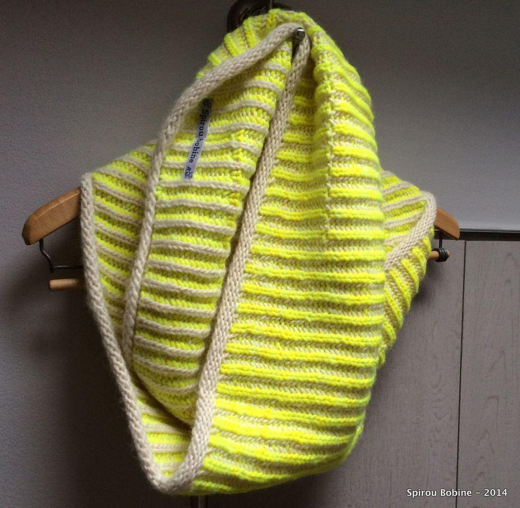 Col hyper moelleux en Brioche Stitch bicolore