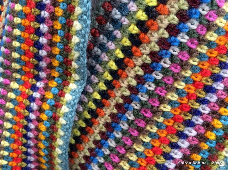 Col moss-stitch en laine Colbert
