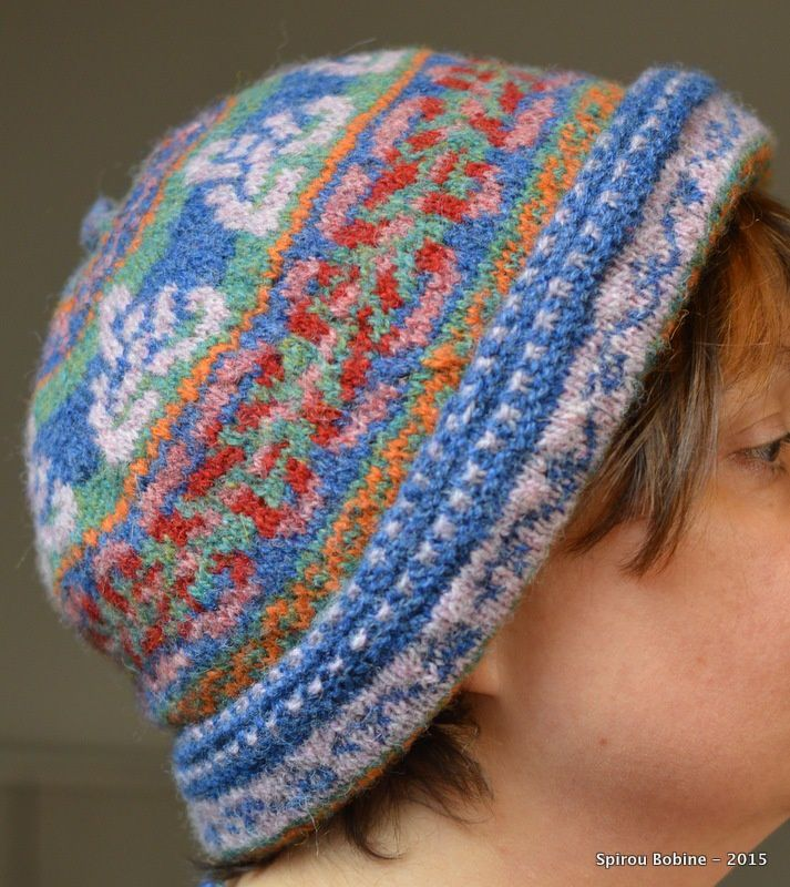 Mon bonnet double en fair-isle