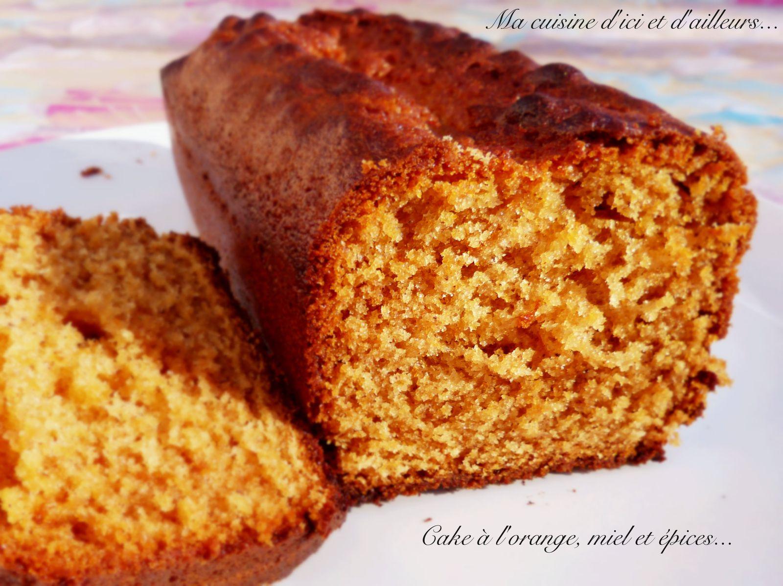 Cake à l'orange, miel et épices...