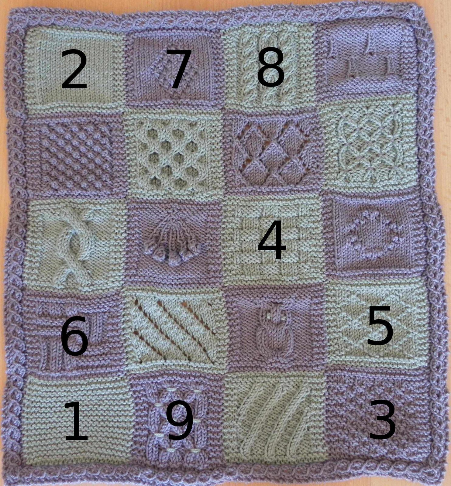 KAL boucle d'or version adulte : carré 9 version A
