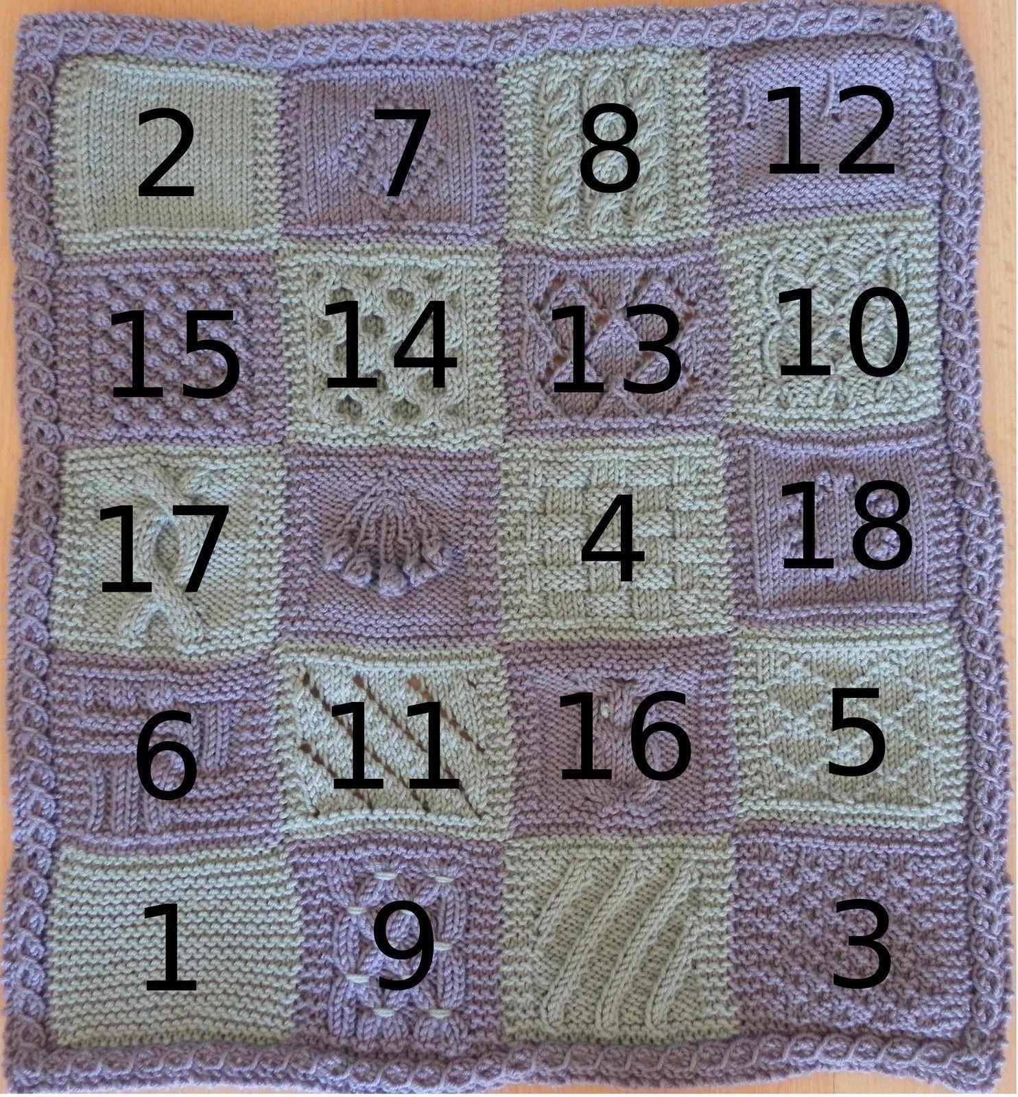 KAL boucle d'or version adulte : carré 18 version A