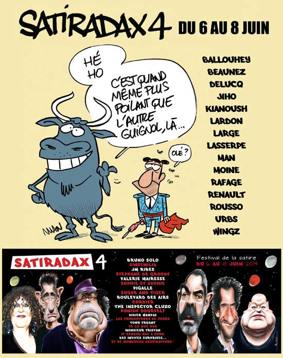 Satiradax 4 : &quot&#x3B;Le festival de la Satire unique en France&quot&#x3B;