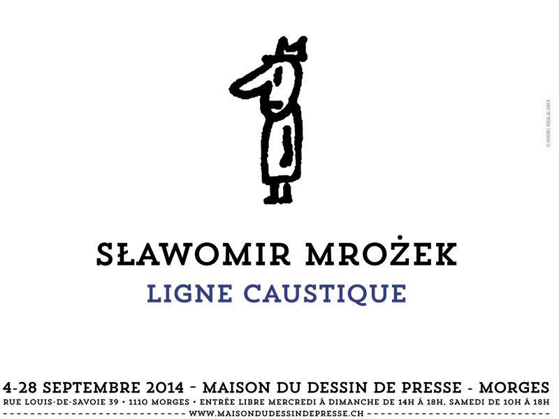 Ligne Caustique : exposition de dessins de Slawomir Mrozek
