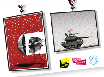 Quelle connerie la guerre : une expo de Cartooning for Peace