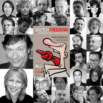 &quot&#x3B;Sketch Freedom Cartoon Expo&quot&#x3B; à Göteborg en Suède