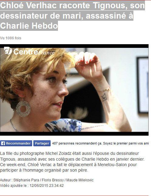 Chloé Verlhac raconte Tignous, son dessinateur de mari, assassiné à Charlie Hebdo