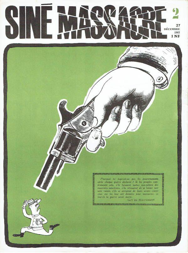 Journaux et collaborations du dessinateur Siné dans la presse française, par Cyril Bosc