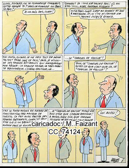 99 dessins de presses et caricatures de Michel Rocard par Faizant