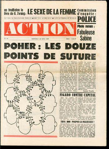 &quot&#x3B;Action&quot&#x3B;, journal contestataire fondé en mai 1968