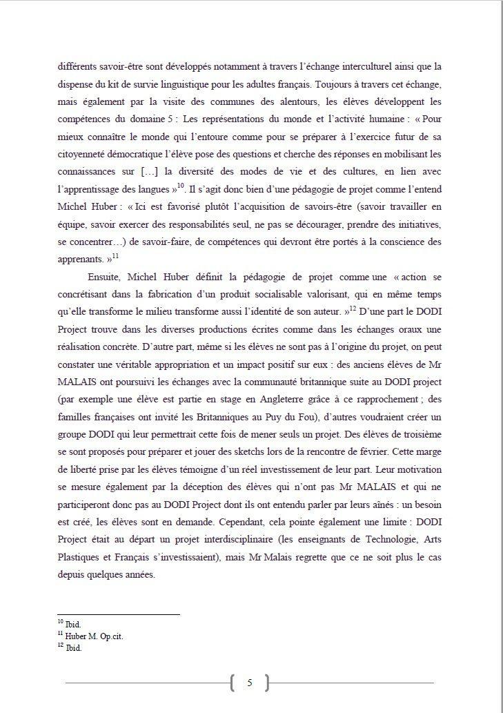 D.O.D.I. PROJECT 17 -  D'UN PROJET PEDAGOGIQUE VERS UNE PEDAGOGIE DE PROJET