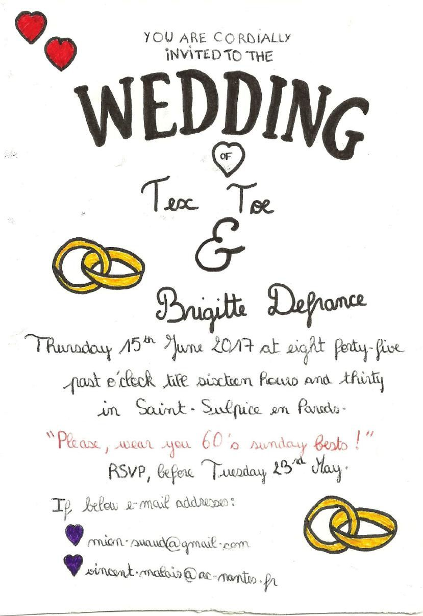 D.O.D.I. PROJECT 17 - WEDDING INVITATION CARDS DESIGNED BY A FEW 3B STUDENTS