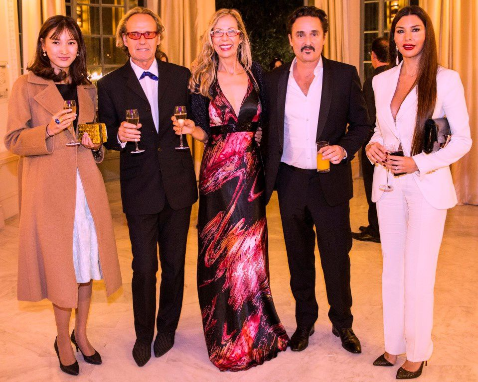 Photo left -Opening Festival Gala La Rotonde Aiken Z China correspondent, Dean Bentley, Rosana Golden, Colin Gerrard, Lamitta Frangieh - photo below:'I know You' director Colin  Gerrard, Rosana Golden, Lamitta Frangieh (actress & jury)