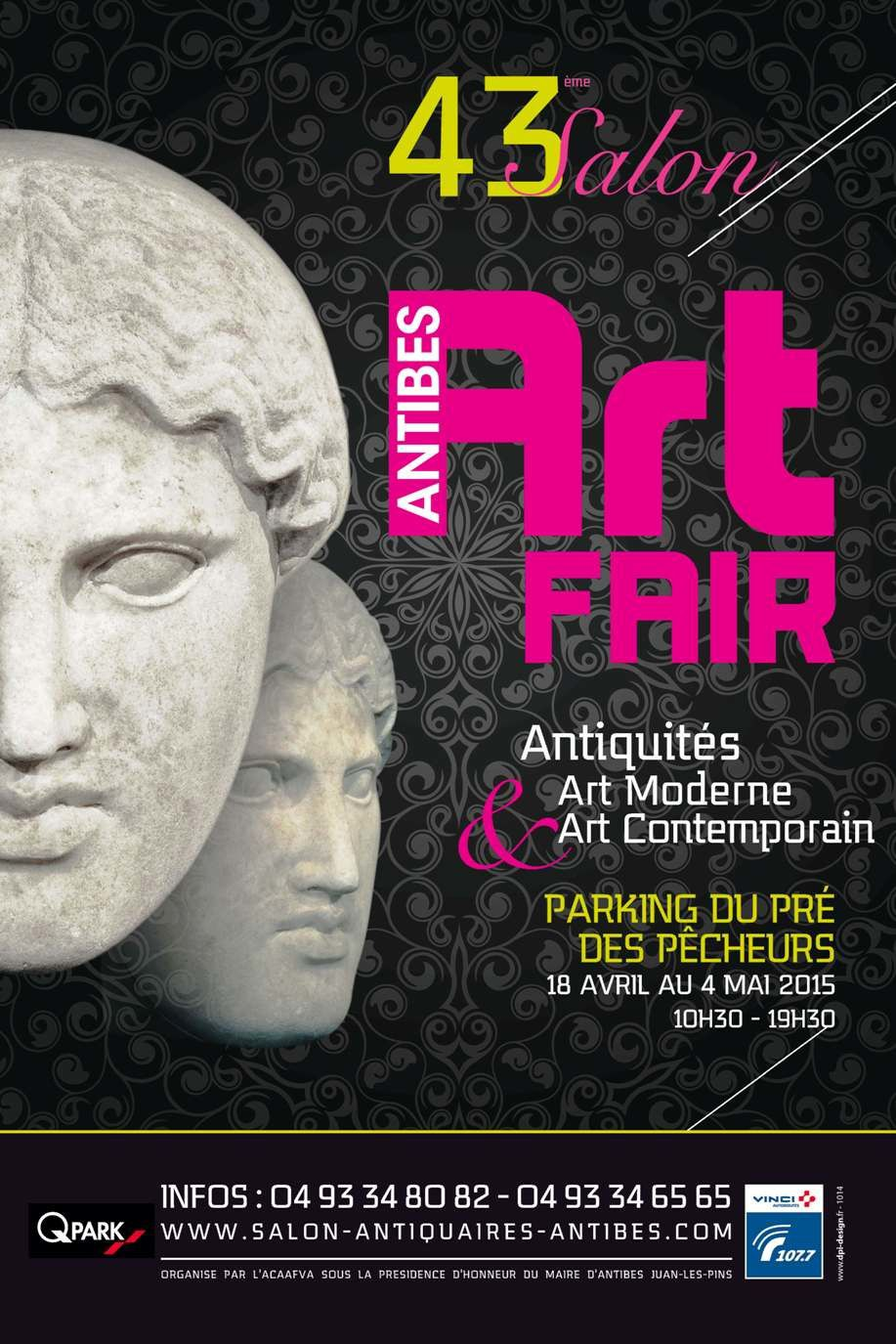 ANTIBES ART FAIR : Du 18 avril au 4 mai 2015  43ème Salon d'Antiquités, d'Art Moderne et d'Art Contemporain d'Antibes