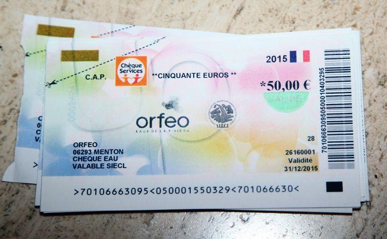 Des « Chèques Eau » remis au CCAS de Menton pour aider les familles en difficulté à payer leur facture