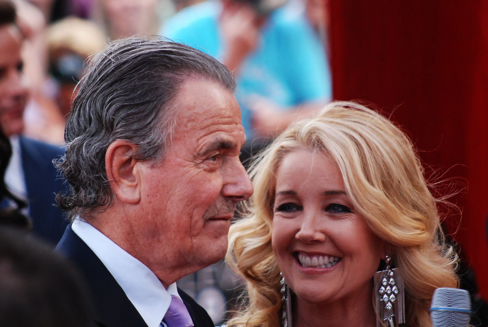 Eric Braeden et sa femme, dans '' The young and the  Restless''
