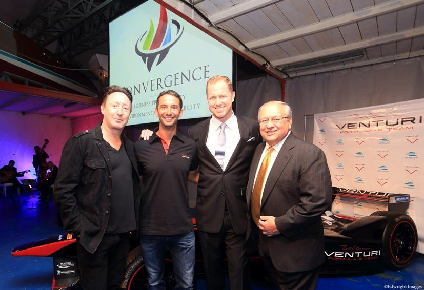 Julian Lennon, Pierre Frolla, Shane Heminway (Founder of Convergence) and Roger Randall (Convergence Principal)
