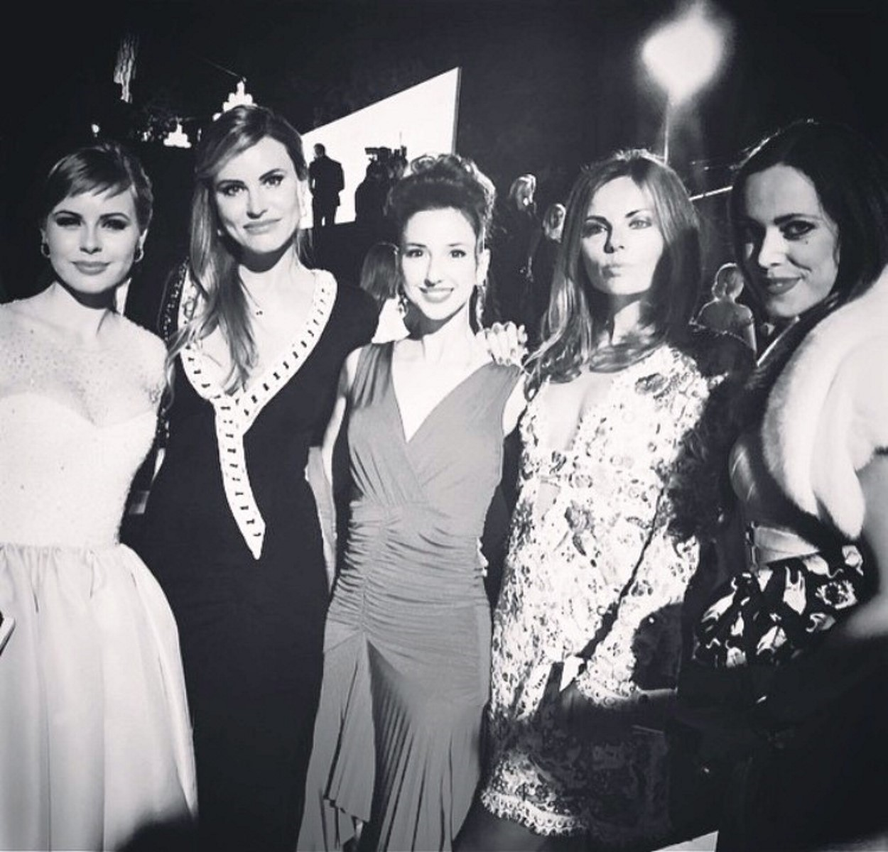 From left: Anna Klyukin, Magdalena Gabriel, Valentina Nessi, Erica Pelosini, Sandra Bauknecht -Grisogono Party at Eden Rock - one of the most prestigious events during Cannes Film Festival
