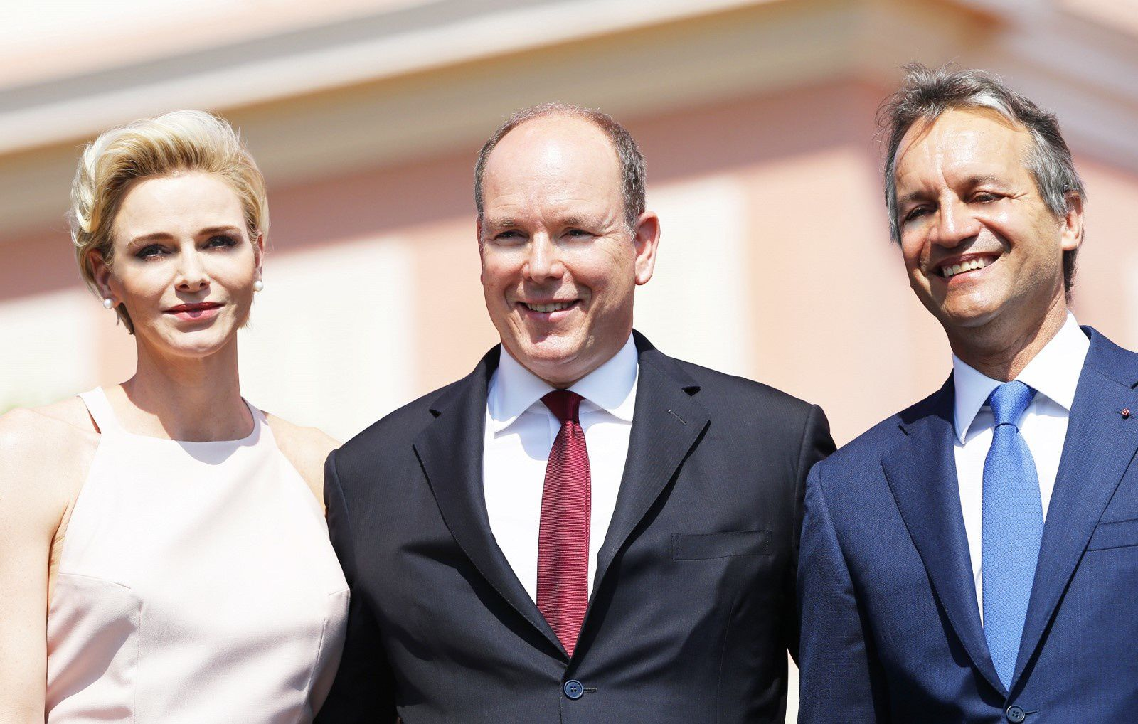 L.L.A.A.S.S. les Princes de Monaco et M. George Marsan, Meire de Monaco - (c) Claudia ALBUQUERQUE/RM