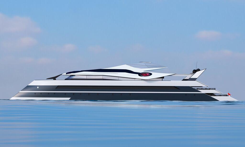 The extraordinary flying yacht Monaco 2050 of Vasily Klyukin