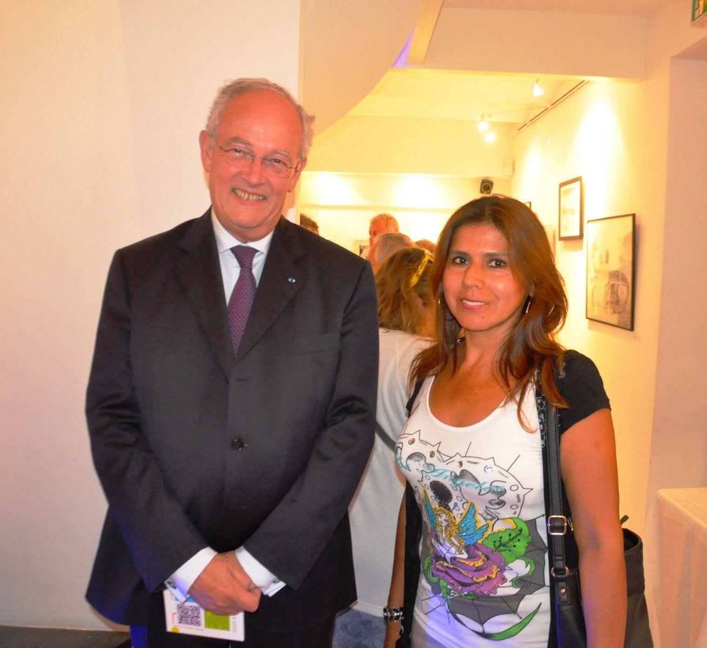 En haut, Yvette Cellario et Daniel Boeri