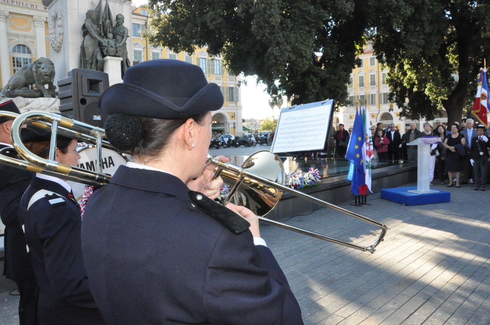 Nizza: Commemorazioni del Centenario della Grande Guerra -  Omaggio alla memoria di Bruno e Costante Garibaldi