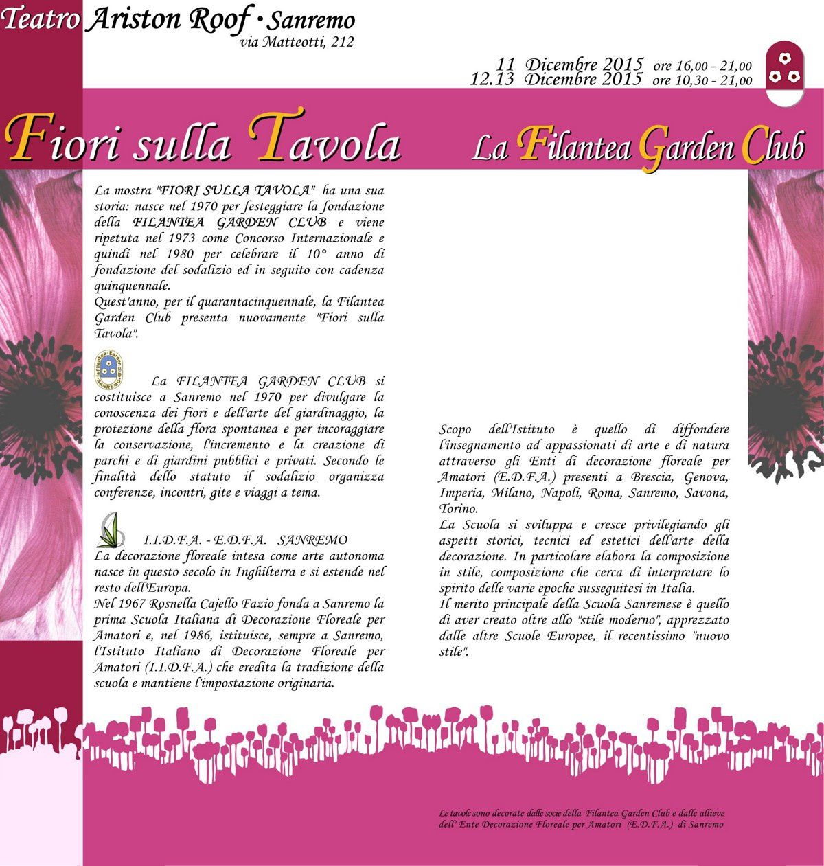 ARISTON SANREMO: LA FILANTEA GARDEN CLUB