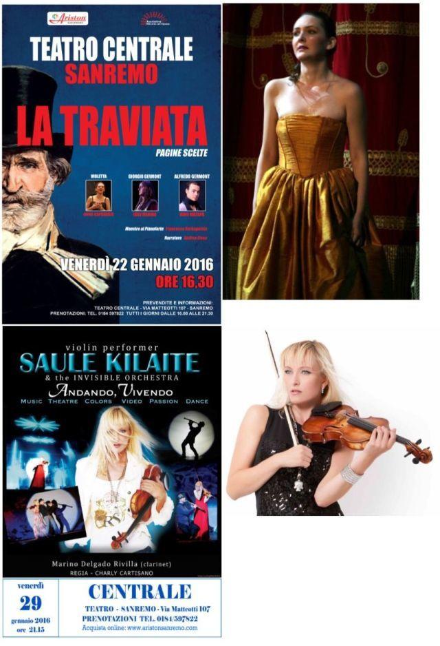 sANREMO: Spettacoli Teatro Centrale gennaio febbraio 2016