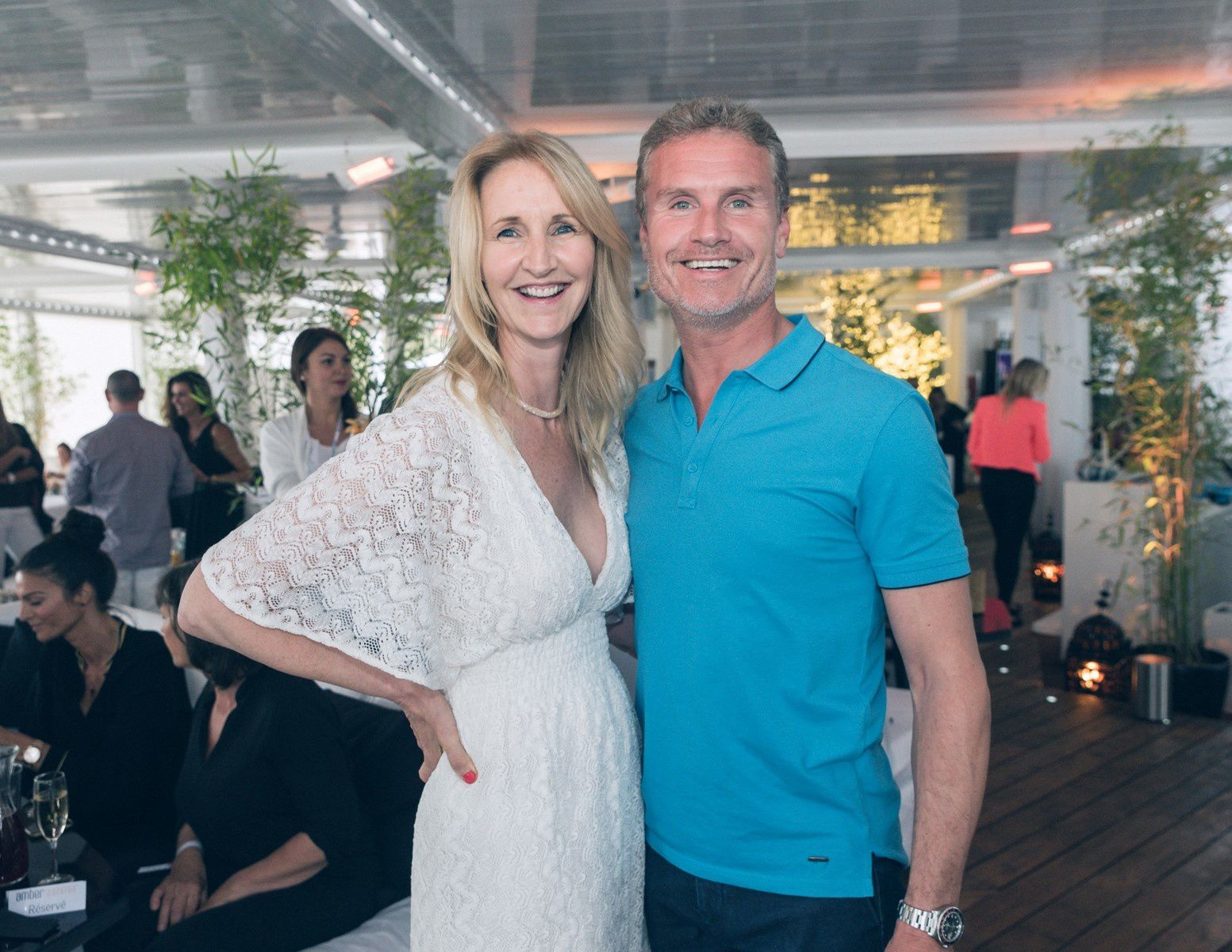 SONIA IRVINE AND DAVID COULTHARD A' AMBER SUMMER