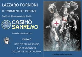 Casinò di Sanremo: Lazzaro Fornoni con &quot&#x3B;Il Tormento e l'Estasi&quot&#x3B;