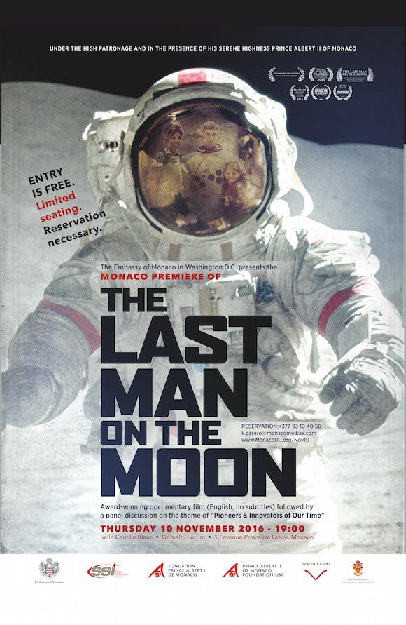 GRIMALDI FORUM: THE LAST MAN ON THE MOON - LE 10 NOVEMBRE EN ANGLAIS