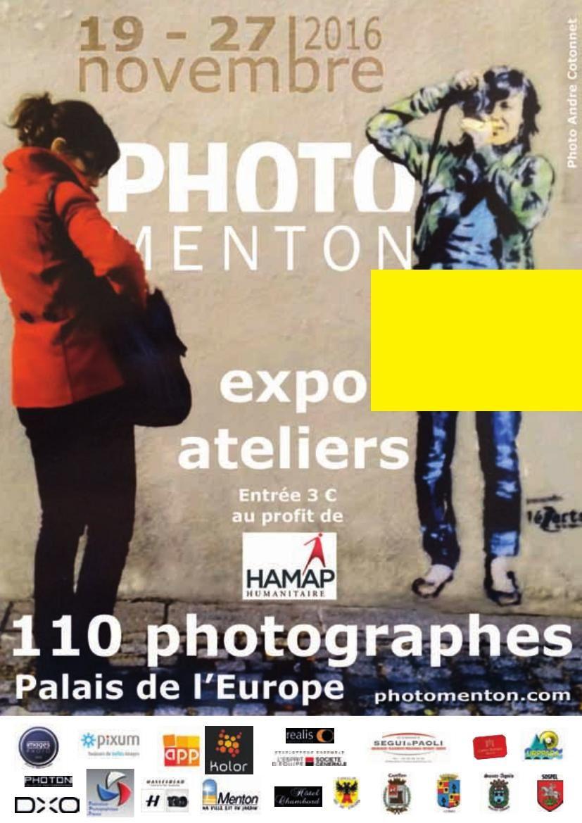 PHOTOMENTON Palais de l'Europe – Du 17 au 29 novembre 2016